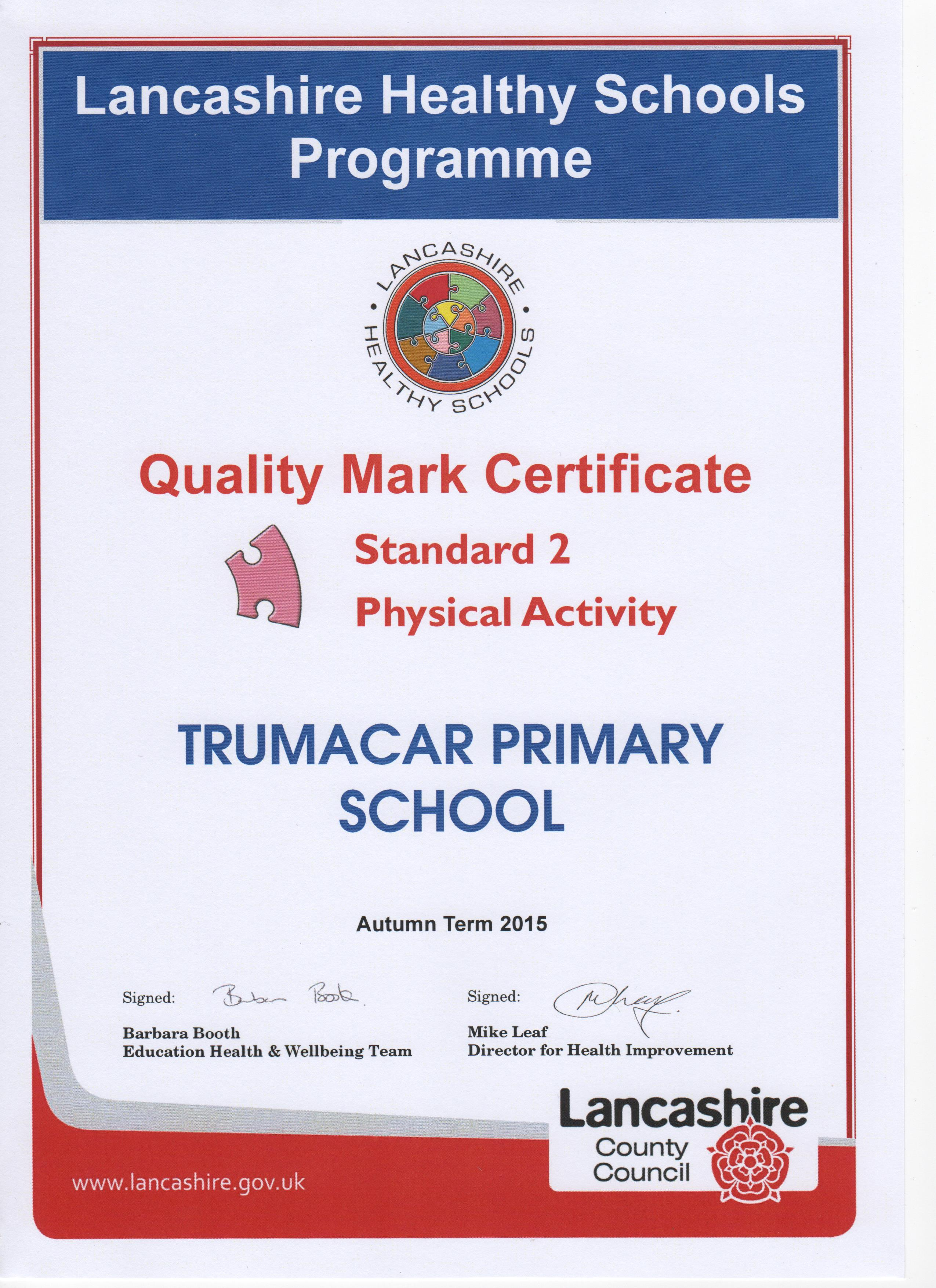 Certificate 2 Physical Activity
